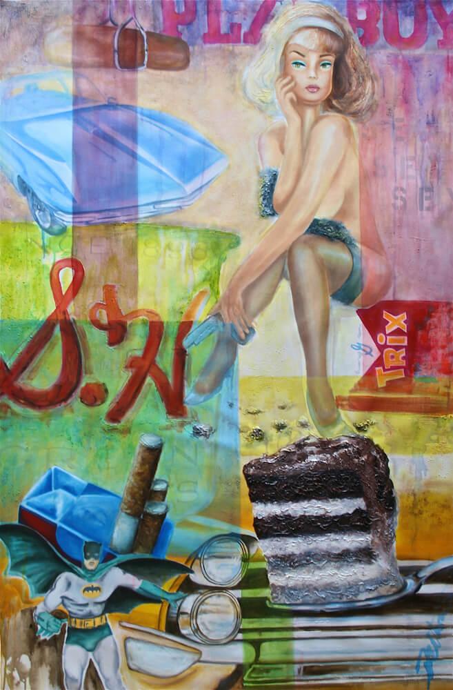 Eat Cake, oil/acrylic on canvas 40 x 60