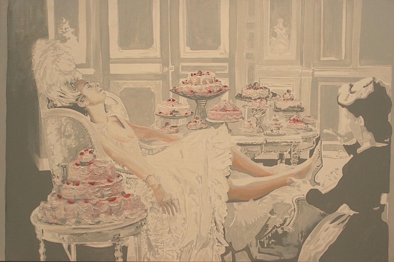 Marie Antoinette, oil/acrylic on canvas 72 x 60