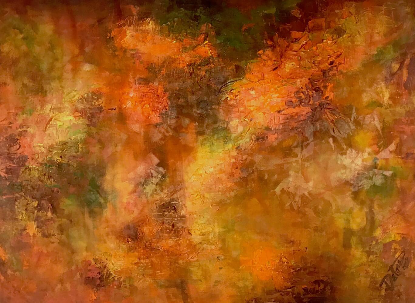 Foliage, acrylic on canvas 84 x 60