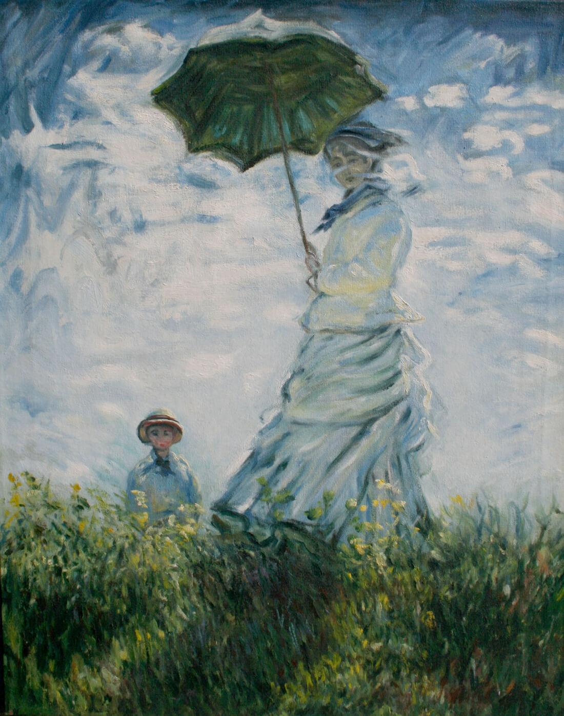 Monet reproduction, oil on canvas 24 x 36