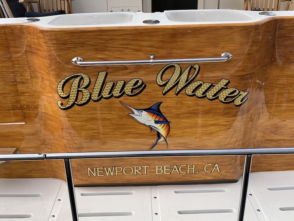Faux Teak wood - Blue Water