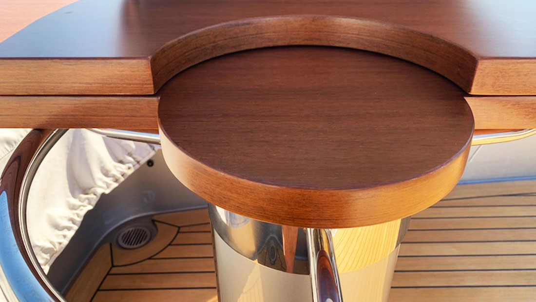 Riva Domino 88- After faux table veneer repair
