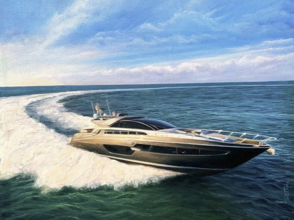 Riva- Domino 88 hand painted on canvas