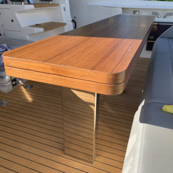 Ferretti-After faux wood table repair