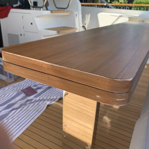 Ferretti-Before faux wood table repair
