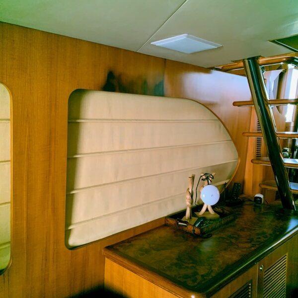 62 Ocean Alexander- before wood veneer repair