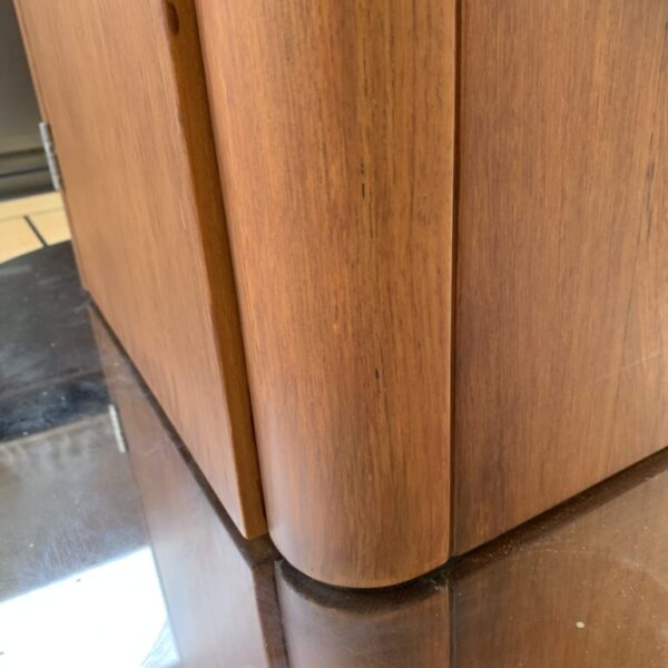 After faux wood table repair