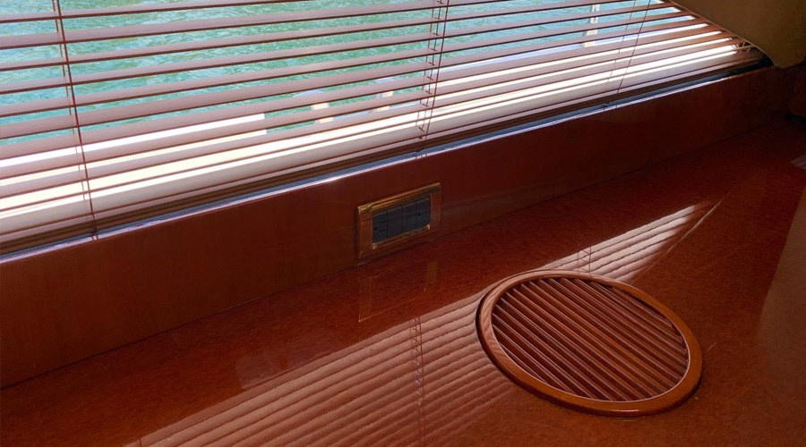We can repair interior veneer by hand-painting the damaged areas, matching the original wood grain.