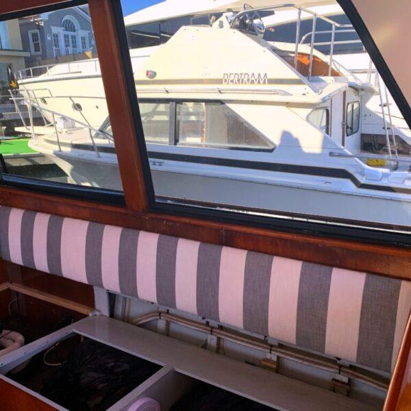 Before- faux veneer Vick Frank Yacht