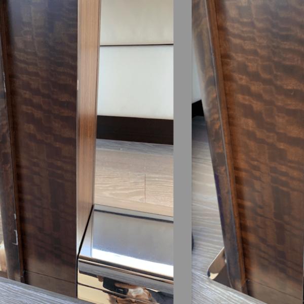 Prestige yacht table scratches faux repair