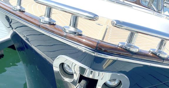Create a faux teak wood for the cap rail, rub rail, helm pod, bulk head... practically any surface.