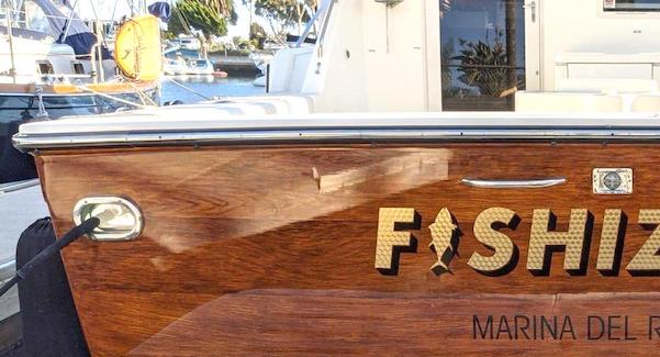 Customize your transom with a faux wood. There are many options to choose from.